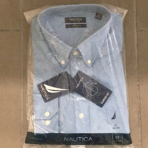 Nautica long sleeved, buttoned down shirt